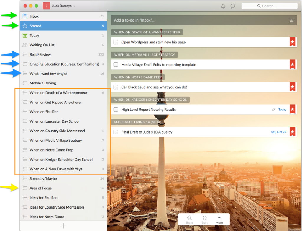 Use Evernote and Wunderlist Productivity System | Death of a